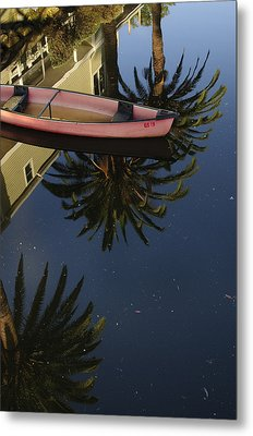 Floating On Palms Metal Print by Kevin Bergen