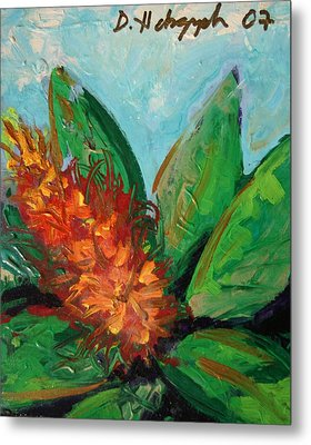 Flora Exotica B Metal Print by Dodd Holsapple