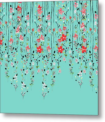 Floral Dilemma Metal Print
