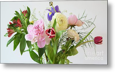 Metal Print featuring the photograph Floral Display by Wendy Wilton