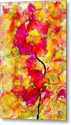 Floral Duet Metal Print by Angela L Walker