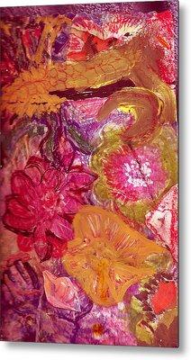 Floral Whimsy 2 Metal Print by Anne-Elizabeth Whiteway
