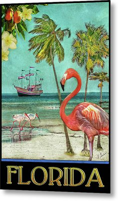Metal Print featuring the photograph Florida Advertisement by Hanny Heim