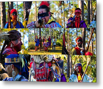 Metal Print featuring the photograph Florida Seminole Indian Warriors Circa 1800s by David Lee Thompson
