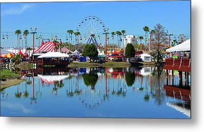 Metal Print featuring the photograph Florida State Fair 2017 by David Lee Thompson