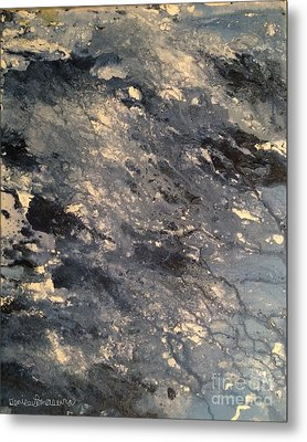 Metal Print featuring the painting Flow by Denise Tomasura