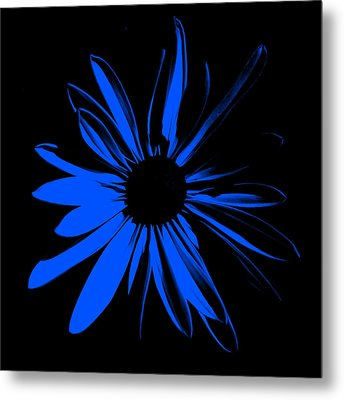 Metal Print featuring the digital art Flower 4 by Maggy Marsh