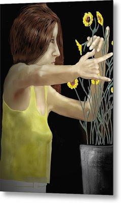 Flower Arranger Metal Print by Kerry Beverly