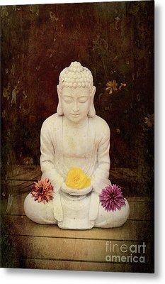 Flower Buddha Metal Print by Tim Gainey