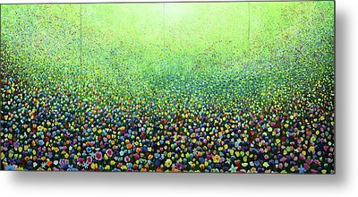Flower Field Riot Metal Print by Geoff Greene