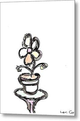 Flower  Metal Print by Levi Glassrock