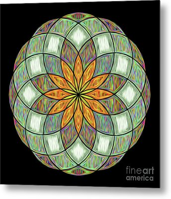 Metal Print featuring the digital art Flower Mandala Painted By Kaye Menner by Kaye Menner