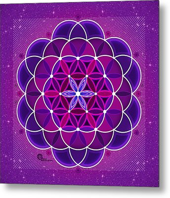 Flower Of Life Metal Print by Soul Structures
