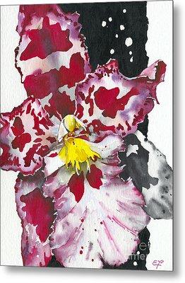 Metal Print featuring the painting Flower Orchid 11 Elena Yakubovich by Elena Yakubovich