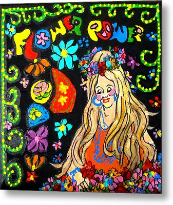 Flower Power Metal Print by Barbara O'Toole
