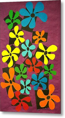 Flower Power Metal Print by Teddy Campagna