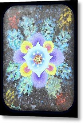 Floral Vortex Metal Print