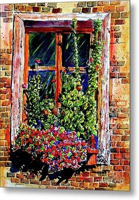 Flower Window Metal Print by Terry Banderas