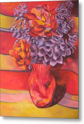 Flowering Orange Metal Print by Lisa Boyd
