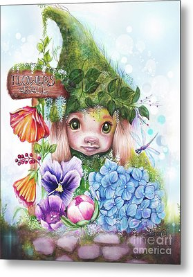 Flowers 4 Sale - Garden Whimzies Collection Metal Print