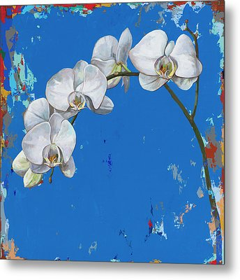Metal Print featuring the painting Flowers #9 by David Palmer