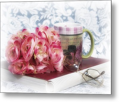 Flowers At Work Metal Print by Trudy Wilkerson