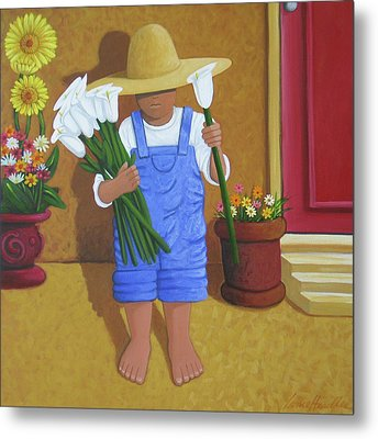 Flowers For A Friend Metal Print by Lance Headlee