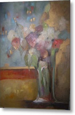 Flowers In The Rain Metal Print by M Allison