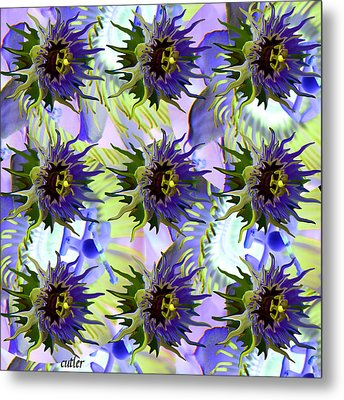 Flowers On The Wall Metal Print by Betsy Knapp