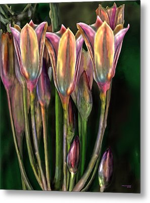 Flowers Metal Print by Virginia Palomeque