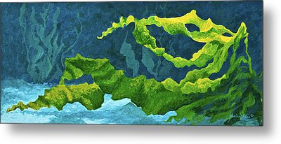 Flowing Kelp Metal Print by Marion Rose