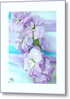 Fluffy Flowers Metal Print by Marsha Heiken