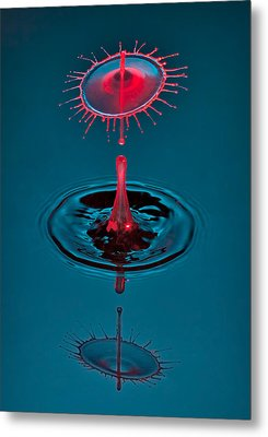 Fluid Parasol Metal Print by Susan Candelario