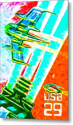 Flyer Spaceship Metal Print