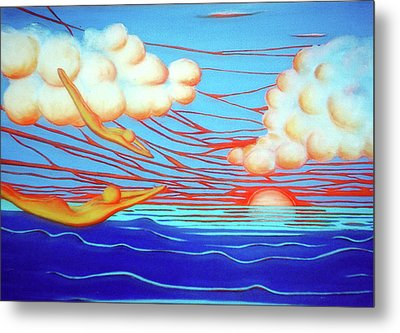 Flying Dream 3 Metal Print by Barbara Stirrup