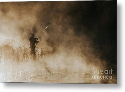 Metal Print featuring the photograph Flying Fishing by Iris Greenwell