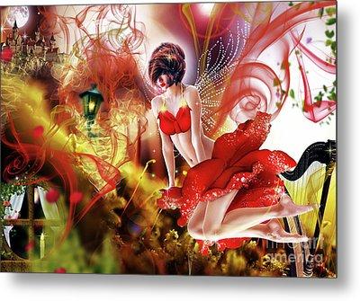 Flying Flower.. Eve Metal Print by Prar Kulasekara