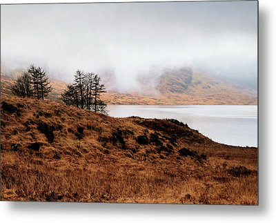 Foggy Day At Loch Arklet Metal Print by Jeremy Lavender Photography