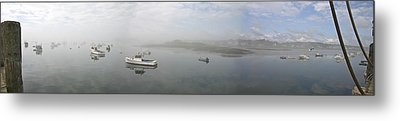 Metal Print featuring the photograph Foggy Morning At Cape Porpoise by David Bishop