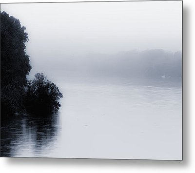 Foggy River Metal Print by Bill Cannon