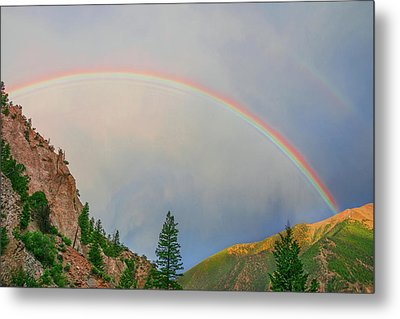 Follow The Rainbow To The Majestic Rockies Of Colorado.  Metal Print