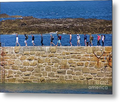 Metal Print featuring the photograph Follow The Yellow Brick Road by Terri Waters