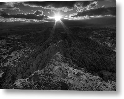 Font's Point Sunset Metal Print by Peter Tellone