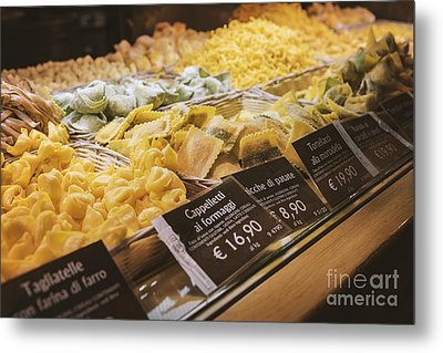 Food Court Pasta Metal Print