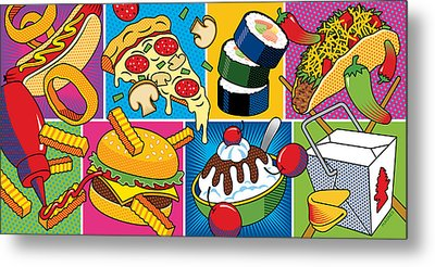 Food Essentials Metal Print by Ron Magnes