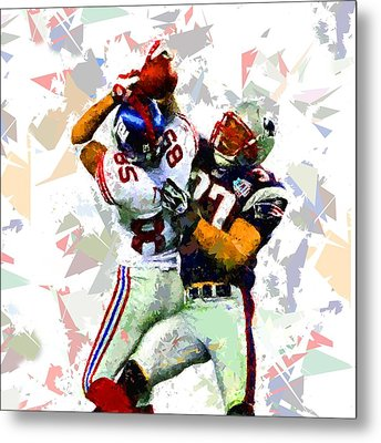 Metal Print featuring the painting Football 116 by Movie Poster Prints