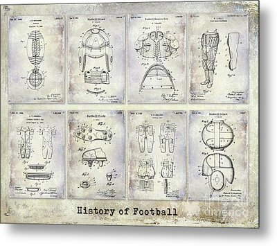 Football Patent History Metal Print