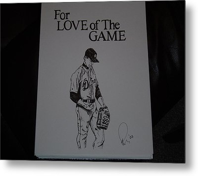 For Love Of The Game Metal Print by Raymond Nash