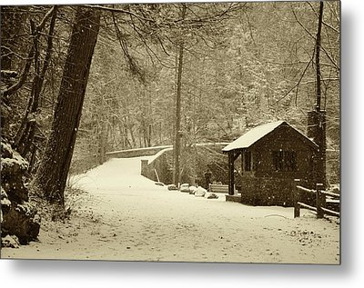 Forbidden Drive In Winter Metal Print by Bill Cannon