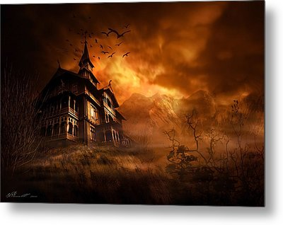 Forbidden Mansion Metal Print by Svetlana Sewell